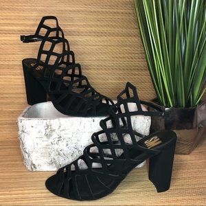 SM Cage Strappy Heels size 8